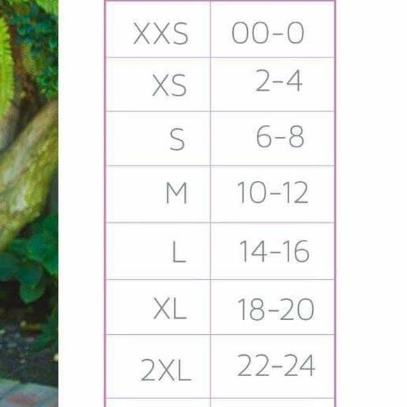 Other - Lularoe Randy sizing chart